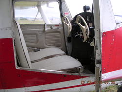 The new seats in the Cessna 150