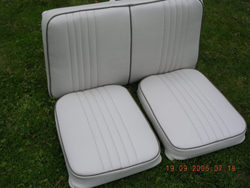 The finished Cessna 150 seats